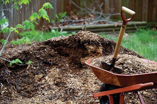 Мульчирование компостом